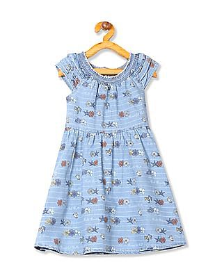 Colt Girls Printed Fit And Flare Dress