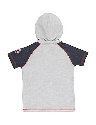 Colt Boys Printed Hooded T-Shirt