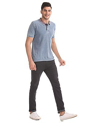 Flying Machine Slim Fit Washed Polo Shirt