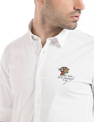 Ed Hardy Slim Fit Button Down Shirt