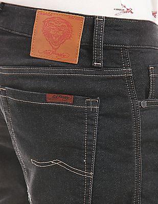 Ed Hardy Whiskered Denim Shorts