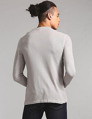GAP Full Sleeve Henley T-Shirt