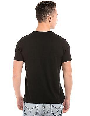 Flying Machine Graphic Print Cotton T-Shirt