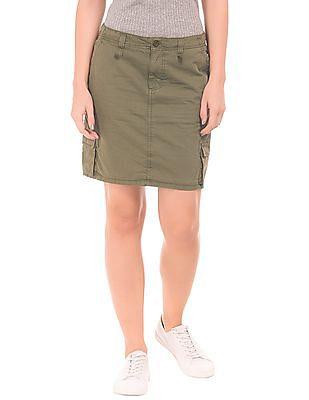 Cherokee Cargo Mini Skirt
