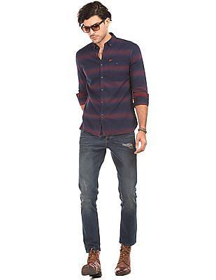 Ed Hardy Striped Slim Fit Shirt