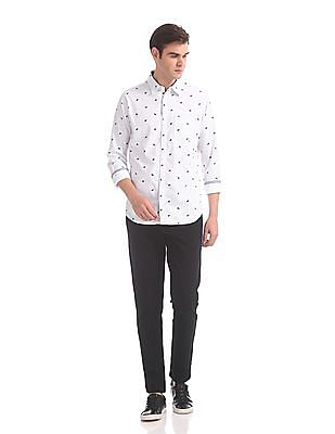 Roots by Ruggers Slim Fit Cotton Shirt