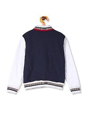 Colt Blue Boys Colour Block Quilted Sweatshirt