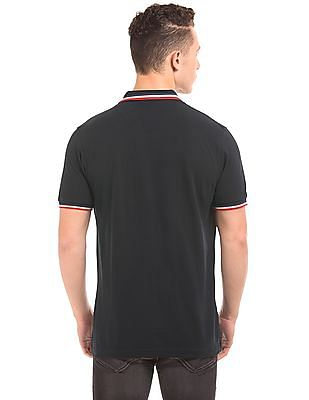 Flying Machine Tipped Pique Polo Shirt