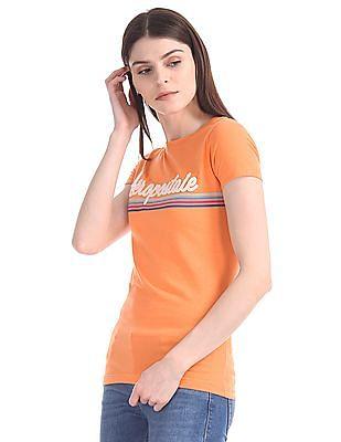 Aeropostale Crew Neck Brand Applique T-Shirt