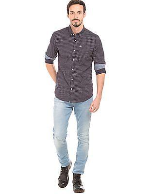 Ed Hardy Printed Slim Fit Shirt
