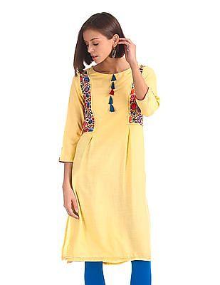 9e7a3633cdb Buy Women 278778642 Yellow Womens Kurta online at NNNOW.com