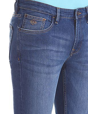 Arrow Sports Slim Fit Whiskered Jeans