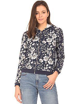 Elle Floral Print Hooded Jacket