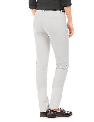 Arrow Woman Elasticized Waist Tapered Fit Trousers