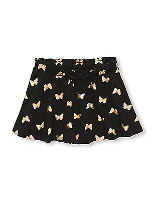 The Children's Place Toddler Girl Matchables Foil Butterfly Print Knit Skort