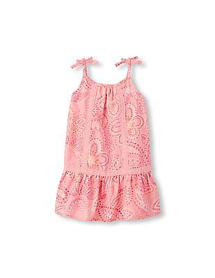 The Children's Place Toddler Girl Pink Sleeveless Paisley Woven Dress