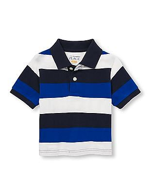 The Children's Place Toddler Boy Short Sleeve Striped Pique Polo