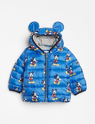 GAP Baby Blue Cold Control Lite Critter Puffer Jacket