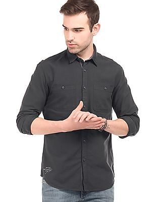Ed Hardy Solid Slim Fit Shirt