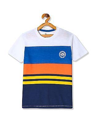 U.S. Polo Assn. Kids Boys Crew Neck Striped T-Shirt