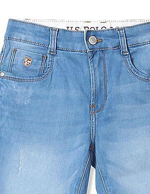 U.S. Polo Assn. Kids Boys Distressed Denim Shorts