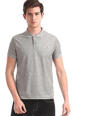 Newport Grey Vented Hem Solid Polo Shirt