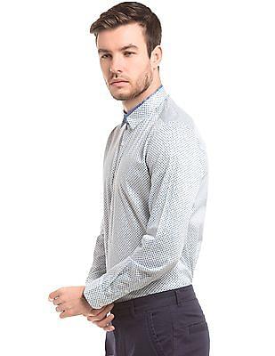 True Blue French Placket Slim Fit Shirt