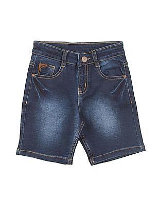 Cherokee Boys Stone Wash Slim Fit Denim Shorts