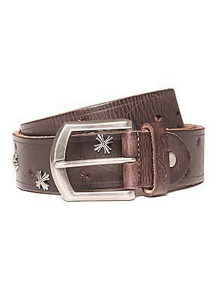 Ed Hardy Embellished Leather Belt