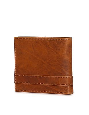 Flying Machine Panelled Leather Wallet