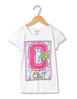 Cherokee Girls Printed Short Sleeve T-Shirt