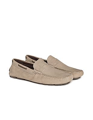 Johnston & Murphy Perforated Penny Loafers