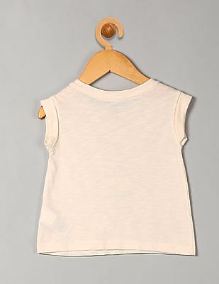 GAP Toddler Girl White Shirred Graphic Tee