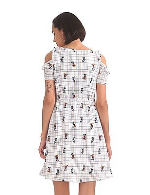 SUGR Printed Cold Shoulder Dress