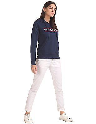 U.S. Polo Assn. Women Embroidered Hooded Sweatshirt