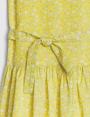 GAP Girls Tie-Belt Drop-Waist Dress