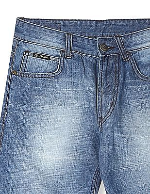 Flying Machine Bruce Regular Straight Fit Washed Jeans
