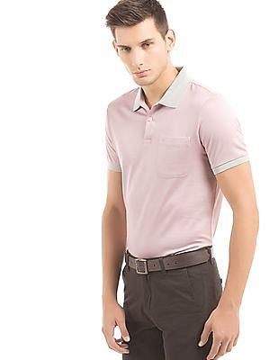 Arrow Contrast Collar Regular Fit Polo Shirt