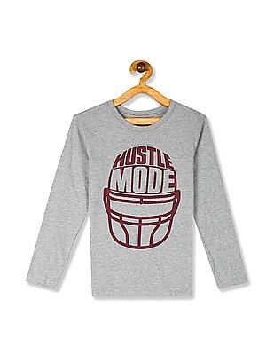 The Children's Place Boys Grey Long Sleeve Hustle Mode Graphic T-Shirt