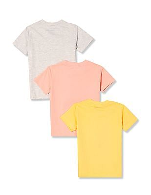 Cherokee Boys Short Sleeve Printed T-Shirt - Pack Of 3