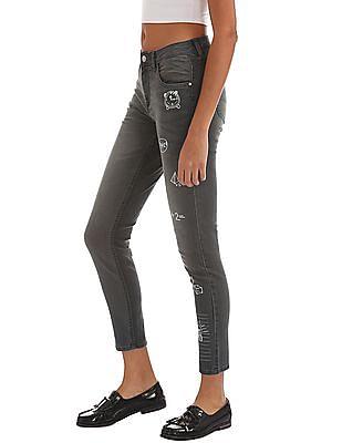 Flying Machine Women Printed Skinny Jeans