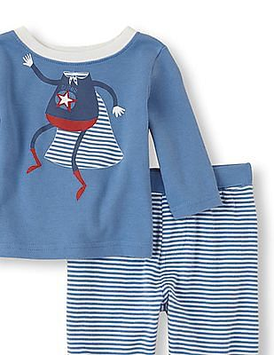 The Children's Place Baby Superhero Shirt And Pants Set