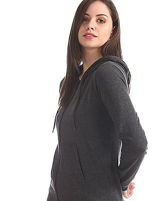 Cherokee Grey Solid Hooded Sweatshirt