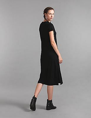 GAP V-Neck Midi Tee Dress