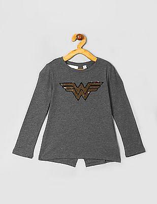 GAP Girls DC™ Wonder Woman Flippy Sequin T-Shirt