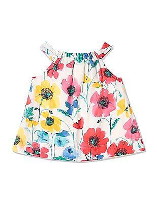 GAP Baby Multi Colour Floral Bow Dress