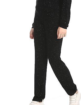Aeropostale Black Glitter Embellished Elasticized Pants