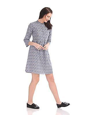 U.S. Polo Assn. Women Mandarin Collar Shirt Dress