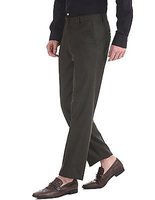 Excalibur Classic Regular Fit Patterned Trousers