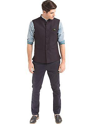 True Blue Slim Fit Textured Bandi